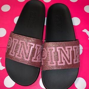 Victoria's Secret Pink Single Glitter Strap Slide